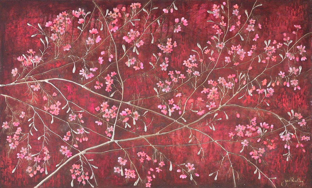 Scarlet Blossom by jo starkey -  sized 39x24 inches. Available from Whitewall Galleries